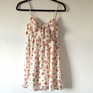 Forever 21 Floral Print Ruffle Dress